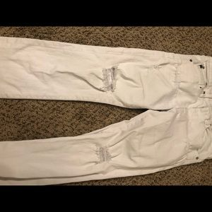 "Ag Adriano Goldschmied Jeans - [AG] White ""The Ex-Boyfriend Crop"" - Size 28R"